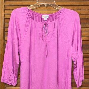 LuLaRoe M Solid Pink Debra Top